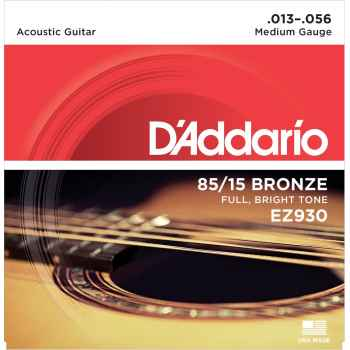 D´addario EZ930 - 85*15 Great American Medium cuerdas para guitarra Acústica